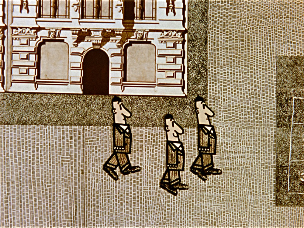 Still from The Banner, dir. Mirosław Kijowicz, 1963, photo: Animated Film Studio