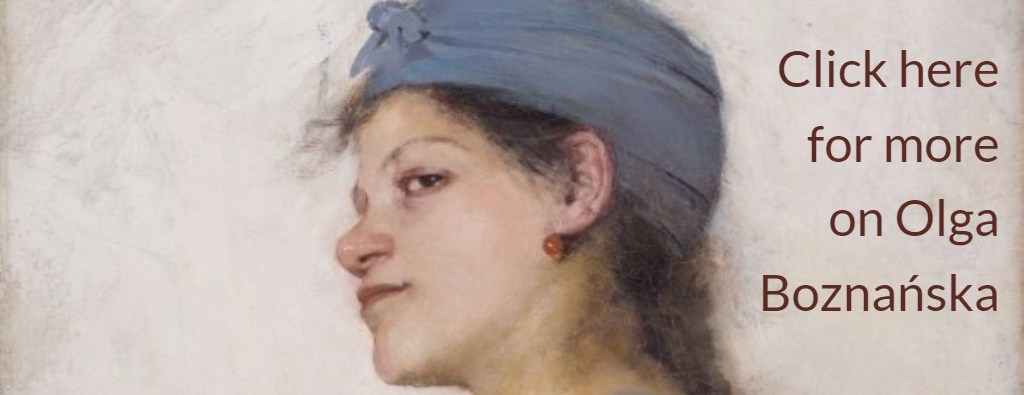 Portion of original. Original credit: Olga Boznańska, Portret kobiety/ Portrait of a Woman (Gipsy Woman), 1888, property of the National Museum in Kraków, photo: Ignacy Pelikan-Krupinski / The National Museum in Warsaw