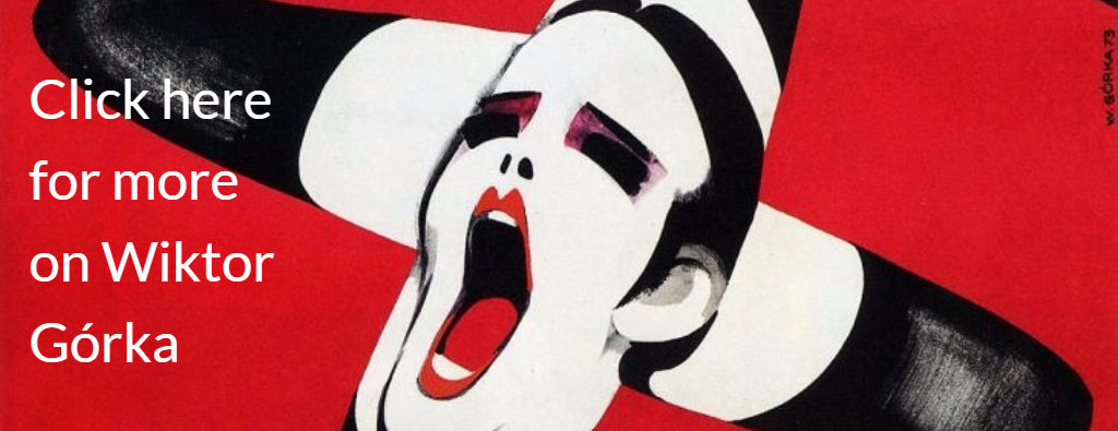 Portion of original. Original credit:  Wiktor Górka, poster for the film Cabaret, 1973, photo: press materials