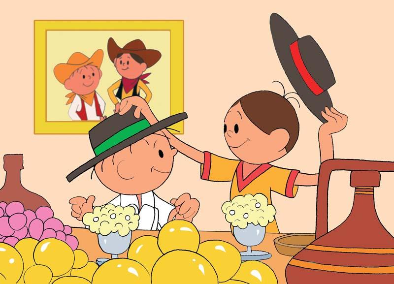 """Kadr z filmu animowanego """"Bolek i Lolek na Dzikim Zachodzie"""", fot. materiały prasowe"""