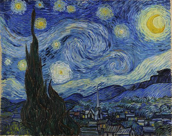 "Vincent Van Gogh, ""Gwieździsta noc"", fot. wolne zasoby"