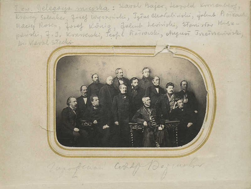 Karol Beyer, Members of the Civic Delegacy, 1861, property of Polish Academy of Learning, Special Collections, Scientific Library PAU and PAN, Kraków