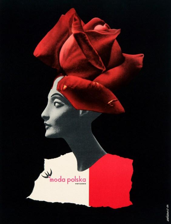 Roman Cieślewicz, Moda Polska (Polish Fasion House), poster, 1959, photo: press materials