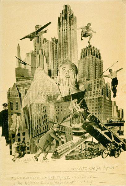 """Kazimierz Podsadecki, """"City - the mill of life"""", photomontage, 1929, 43,5 x 29 cm, photo. Muzeum Sztuki w Łodzi"""