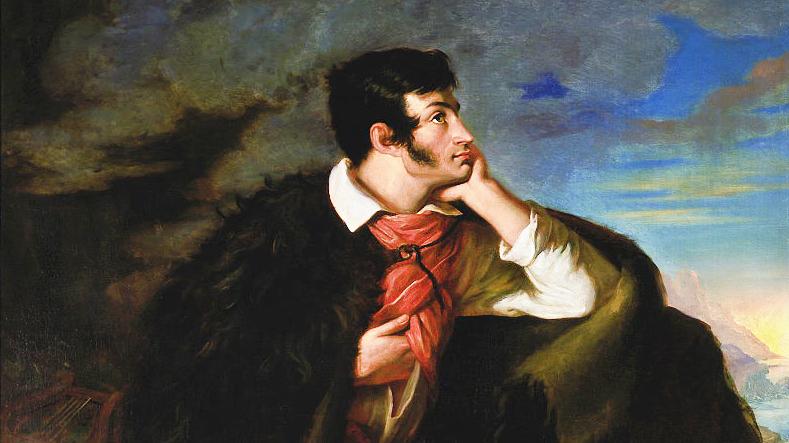 Walenty Wańkowicz, Portrait of Adam Mickiewicz at Judahu Cliff, 1828, photo: Piotr Ligier / National Museum in Warsaw
