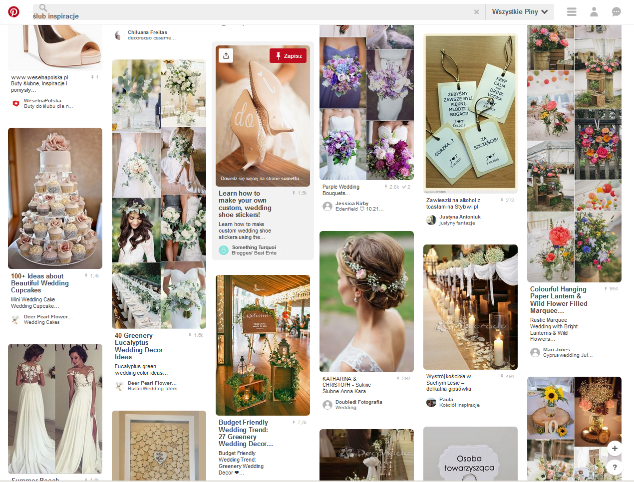 Wedding inspirations, Polish Pinterest boards, photo: Pinterest