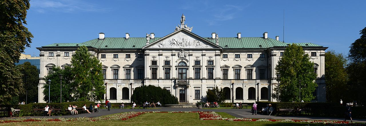 Krasiński Palace in Warsaw, view from the gardens, photo: CC