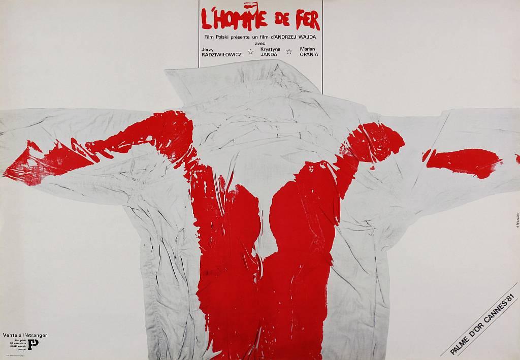 Andrzej Pągowski, poster for the Man of Iron film, dir. A. Wajda, 1981