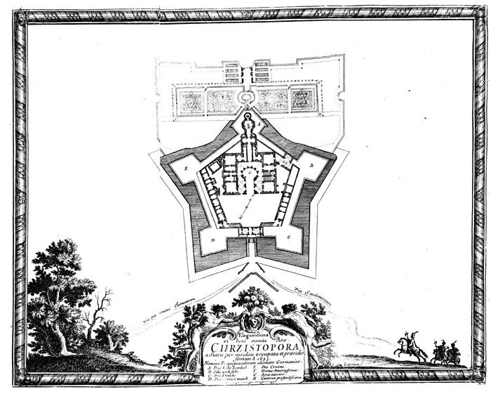 План замка Кшиштопур, прим. 1655. Фото: CC BY-SA