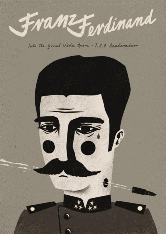 Давид Рыский, концертный плакат группы Franz Ferdinand, публикуется с позволения художника