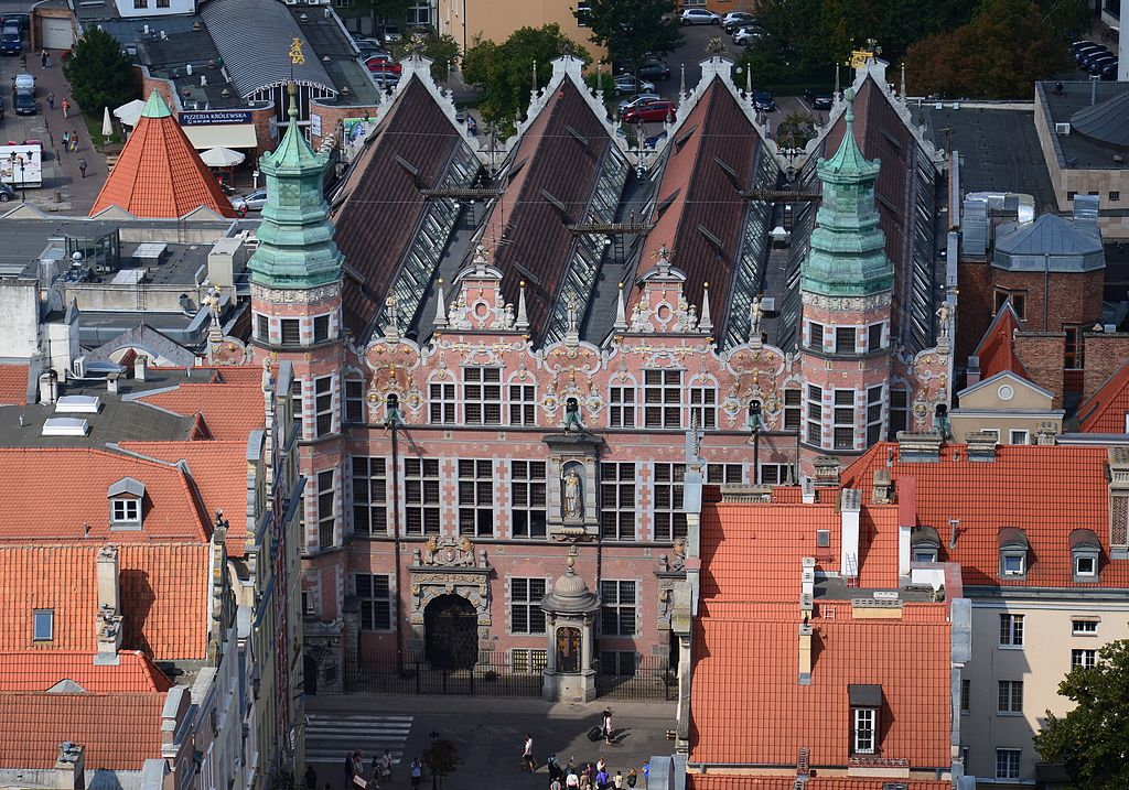 Great Armory building in Gdańsk, a view from the Mariacka Towerk, photo: CC