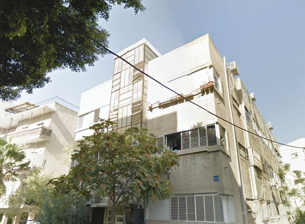 Ogen House in Tel Aviv on 23 Pinsker str, designed in 1936 by Pinhas Huett