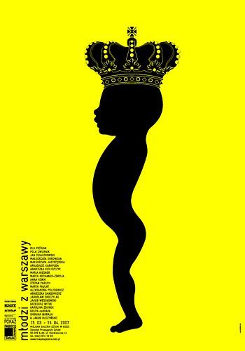 """Małgorzata Gurowska, poster for the """"Młodzi z Warszawy"""" (The Young from Warsaw) exhibition"""