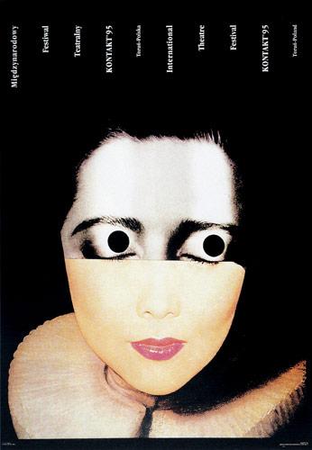 Mieczysław Wasilewski, poster for the Kontakt theatre festival, 1995