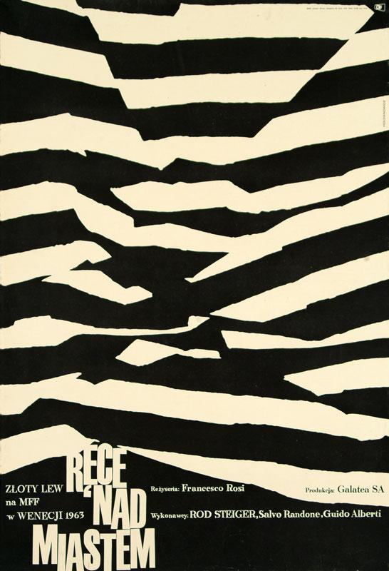 Leszek Hołdanowicz, poster for the French-Italian film Le mani sulla cita, 1964
