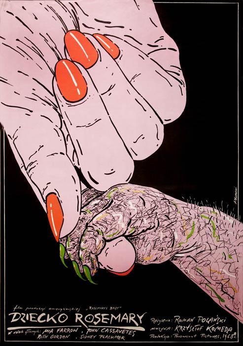 Анджей Понговский, плакат к фильму «Ребенок Розмари», реж. Р. Поланский, 1968