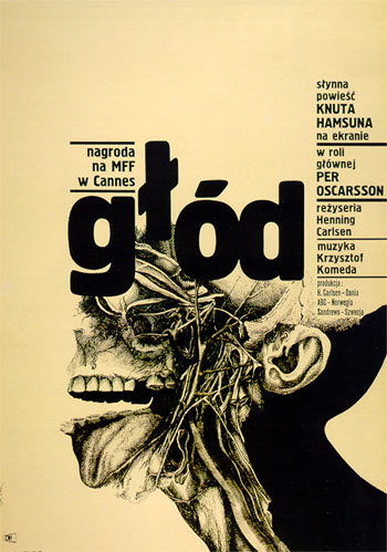 "Bronisław Zelek, poster for the film ""Głód"" (Hunger), dir. H. Carlsen, 1955"