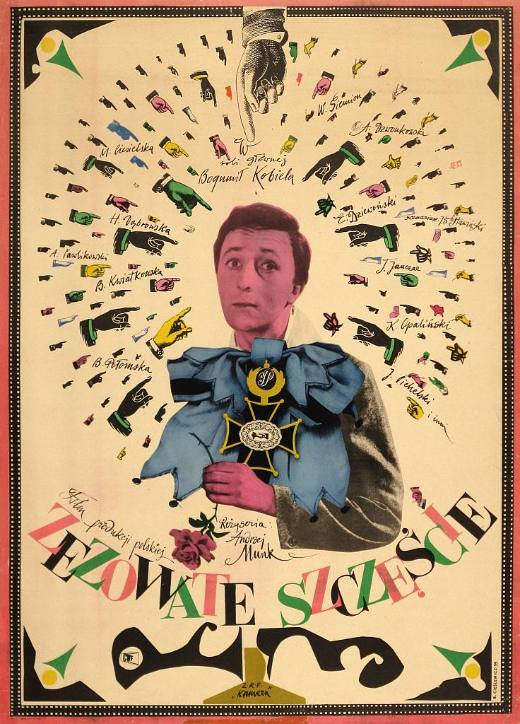 "Roman Cieślewicz, poster for the film ""Zezowate szczęcie"" (Cross-eyed Luck), 1959, image courtesy of Galeria Grafiki i Plakatu"