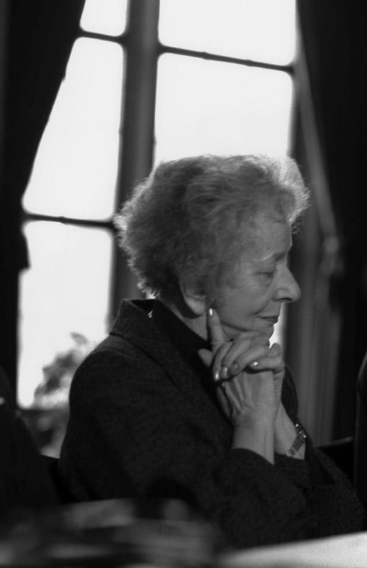 Wisława Szymborska, Frankfurt, 1997, photo: Elżbieta Lempp