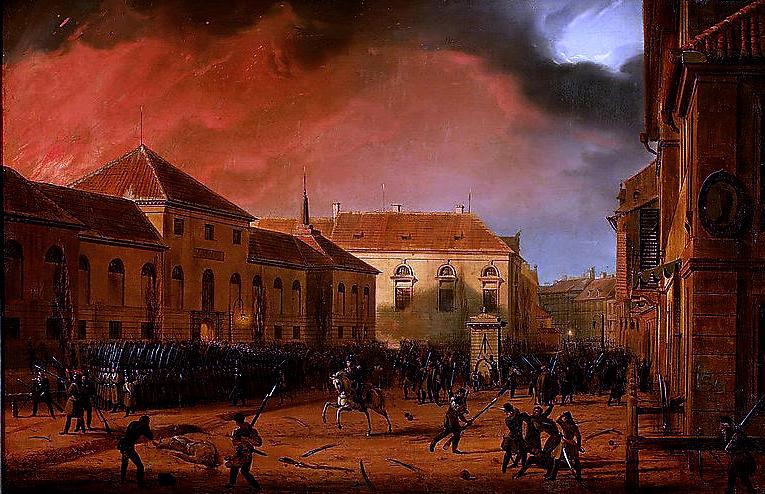 """Marcin Zaleski, """"Cykl Listopadowy"""", """"Wzięcie Arsenału"""", 1830, fot. wolne zasoby"""