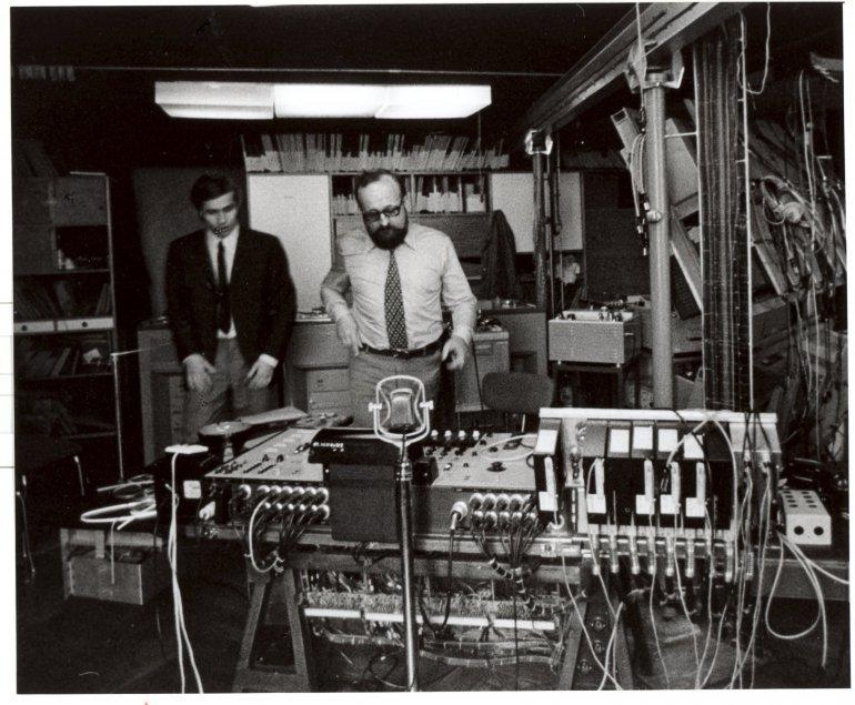 Krzysztof Penderecki and Eugeniusz Rudnik, photo: Andrzej Zborski