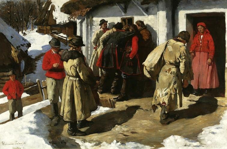 """Włodzimierz Przerwa-Tetmajer, """"Muzykanci w Bronowicach"""", 1891, olej na płótnie, fot. dzięki uprzejmości Muzeum Narodowego w Warszawie"""
