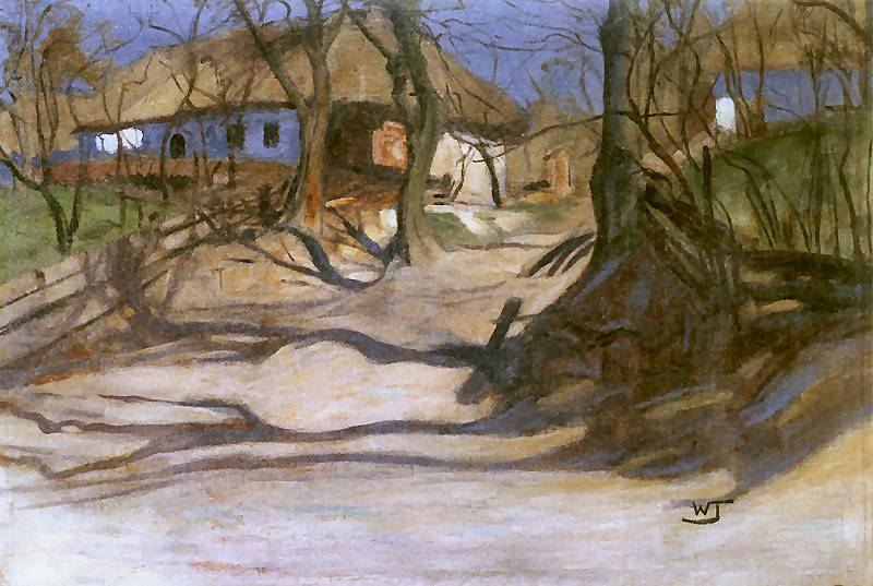 Włodzimierz Przerwa-Tetmajer, Wiosna (editor's translation: Spring), circa 1909, oil on canvas, 68 x 98.5 cm, by courtesy of the Stanisław Fischer Museum in Bochnia