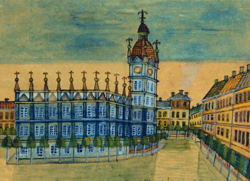 """Nikifor Krynicki, """"Krakowska Wolnica"""", fot. dzięki uprzejmości Muzeum Etnograficznego w Krakowie"""