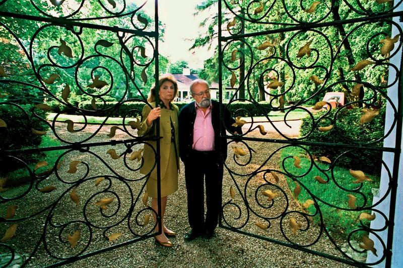 Krzysztof Penderecki z żoną Elżbietą, fot. Wojciech Druszcz / East News
