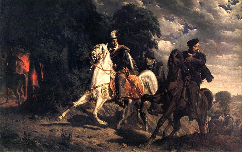 Ucieczka Henryka Wazelego z Polski 1860, w zbiorach Muzeum Narodowego w Warszawie