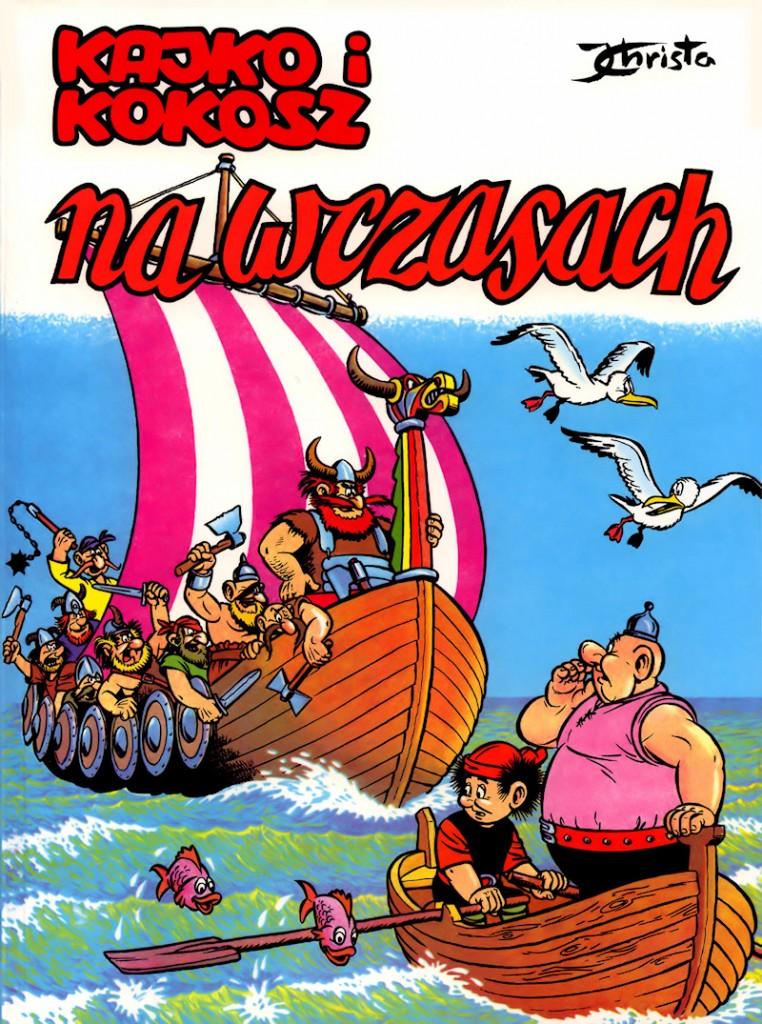 """Janusz Christa, okładka komiksu """"Kajko i Kokosz na wczasach"""", fot. Culture.pl"""