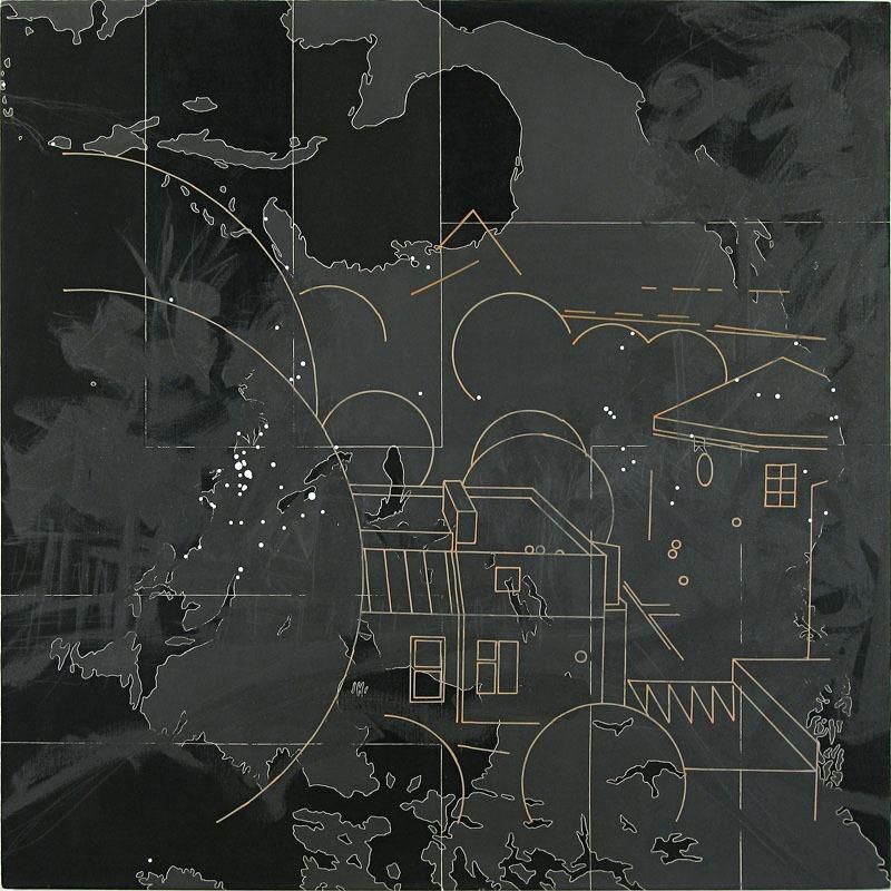 """Włodzimierz Jan Zakrzewski, """"Mój pejzaż"""" (""""Ameryka""""), 1997, 153 x 153 cm, fot. dzięki uprzejmości artsyty"""
