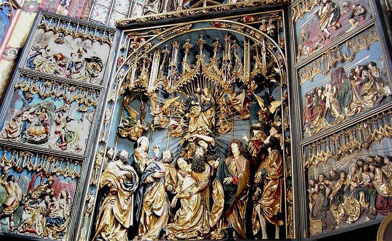 St Mary`s Altar in Kraków