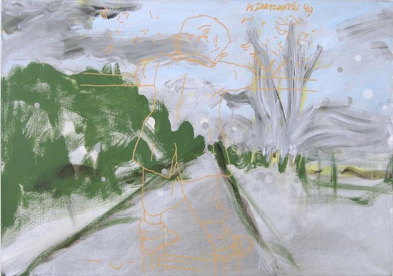 """Włodzimierz Jan Zakrzewski, """"Włodek na balkonie"""", 1993, 81 x 116 cm, fot. dzięki uprzejmości artysty"""