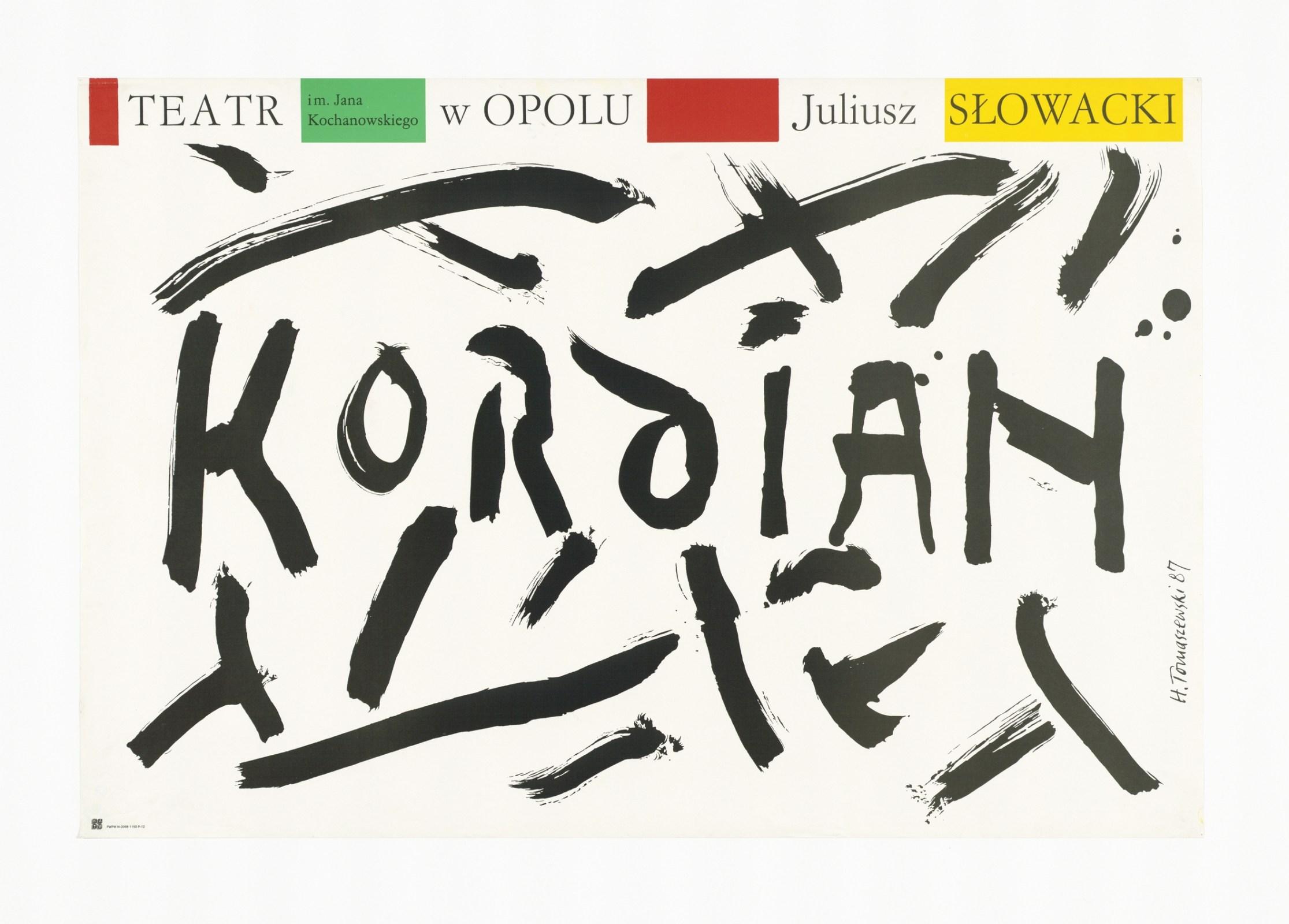 plakat Henryka Tomaszewskiego/ materiały organizatora
