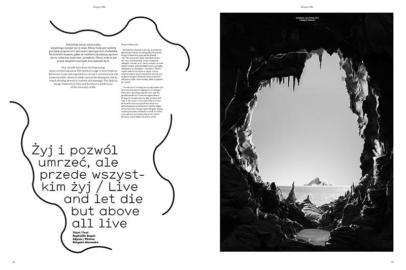 Edgar Bąk, graphic design for MAJ magazine. Photo: courtesy of the designer