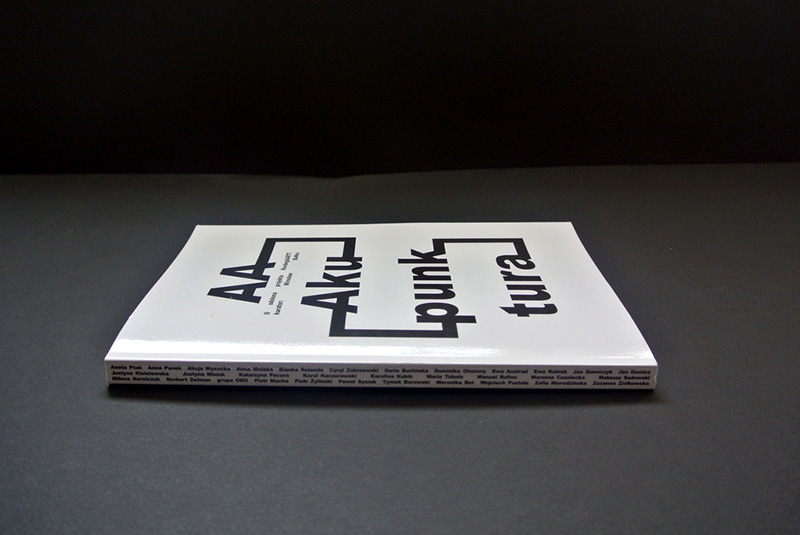 """Noviki Studio, graphic layout for Mirosław Bałka&squot;s """"Aaakupunktura"""" (book). Photo coutesy of the designers"""
