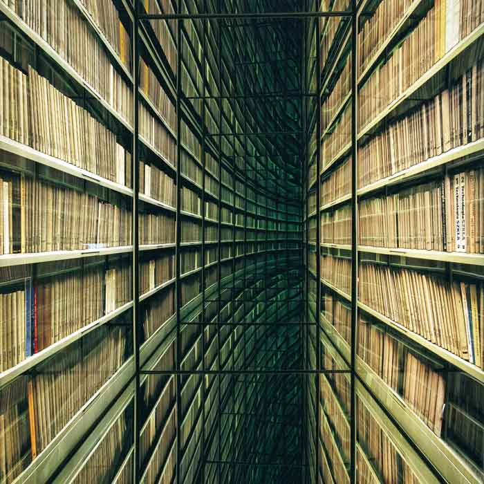 Nicolas Grospierre, The Never-Ending Corridor of Books from The Library series, 2006