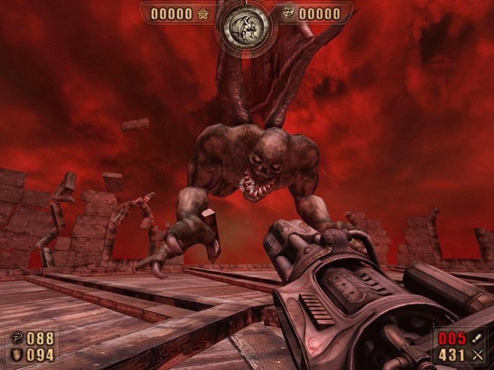 Spectacular boss fight in Painkiller