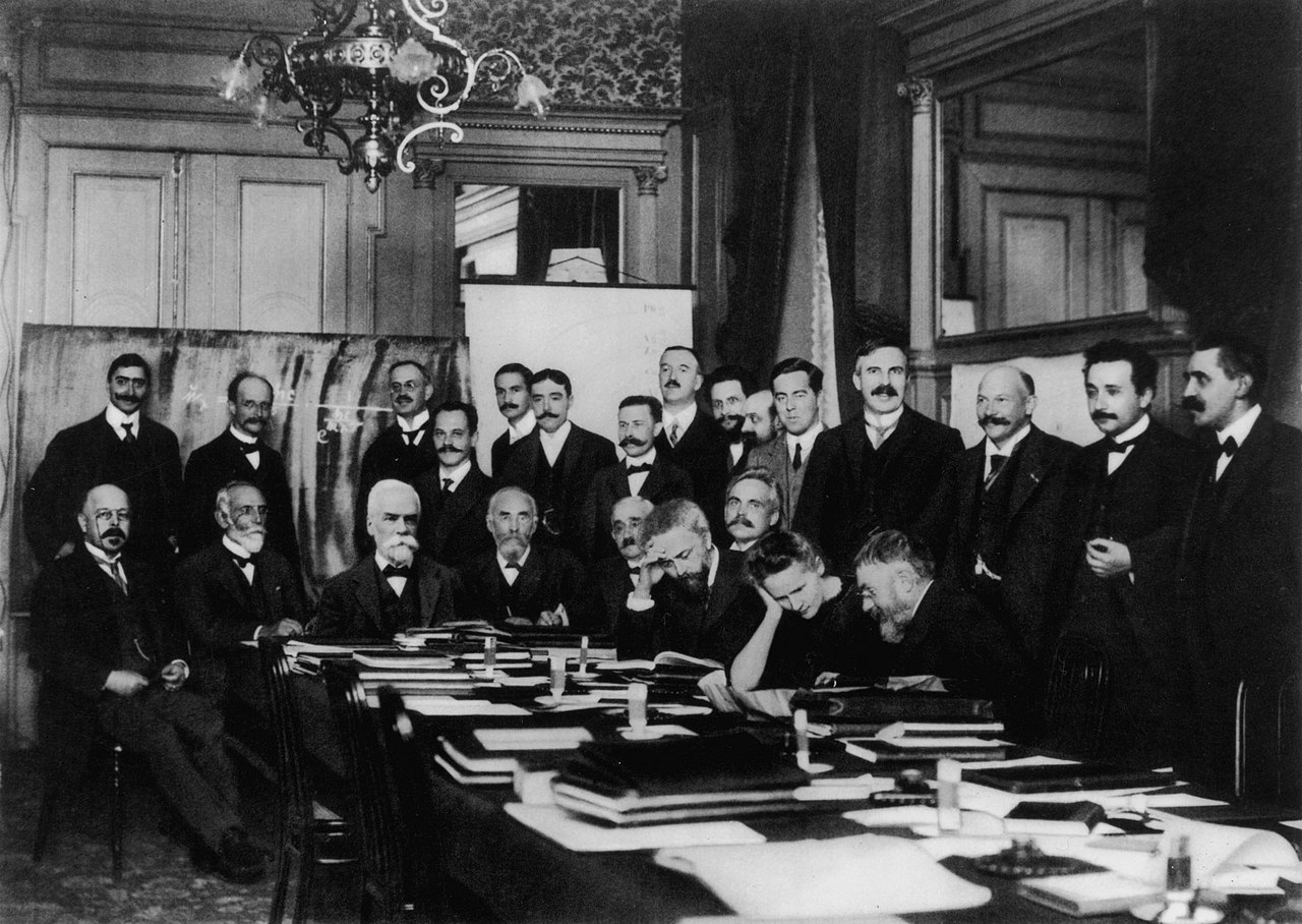 Marie Curie at Solvay conference in Brussels, 1911. Photo: Wikimedia