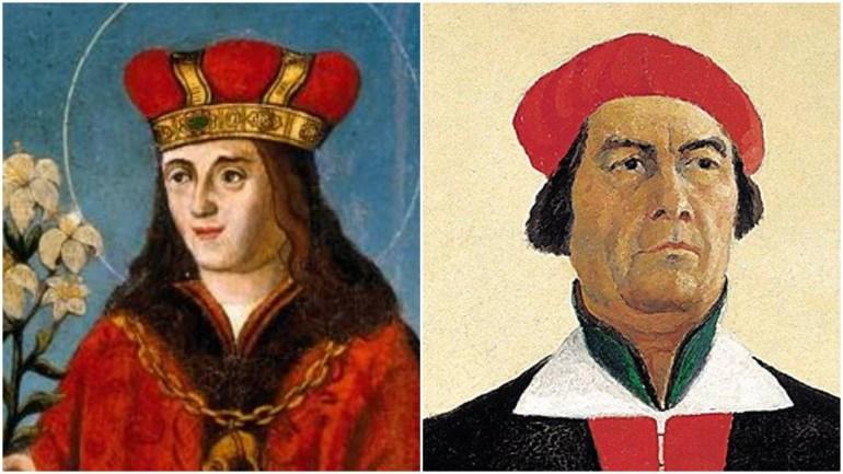 Два Казимира: польский святой XVI века и русский художник-авангардист ХХ столетия Казимир Малевич (автопортрет). Фото: Wikipedia