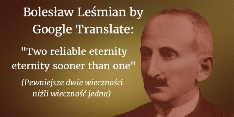 Bolesław Leśmian by Google Translate