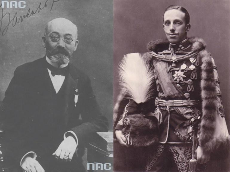 Ludwik Zamenhof and Alfonso XIII of spain; Photo: NAC/Wikimedia Commons
