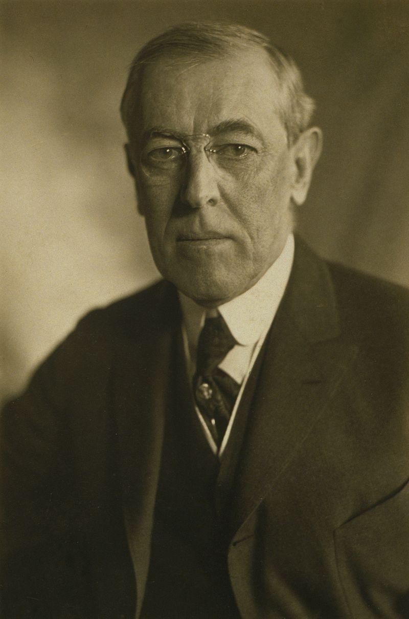 President Woodrow Wilson; Photo: Wikimedia Commons