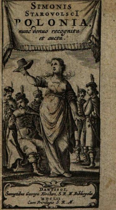 Alegory of Poland in a book by Simon Starowolski