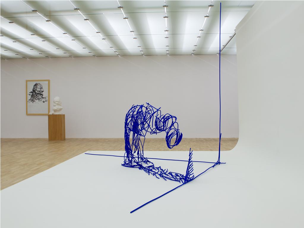"""Olaf Brzeski, """"Upadek człowieka, którego nie lubię"""", wystawa w Galerii Sztuki Współczesnej w Opolu, 2012, fot. Dział projektowy GSW"""